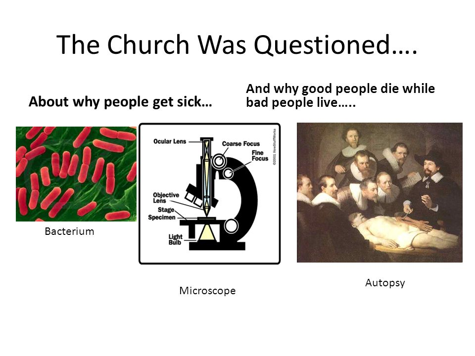 The Church Was Questioned….