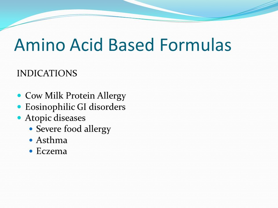 Amino Acid Based Formulas