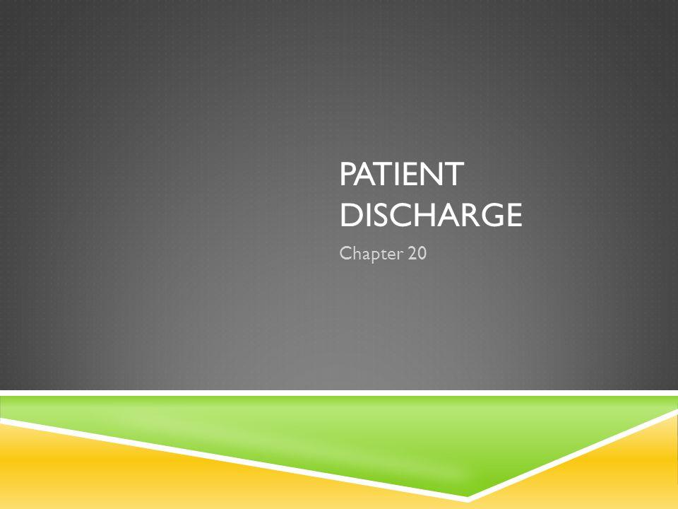 Patient discharge Chapter 20
