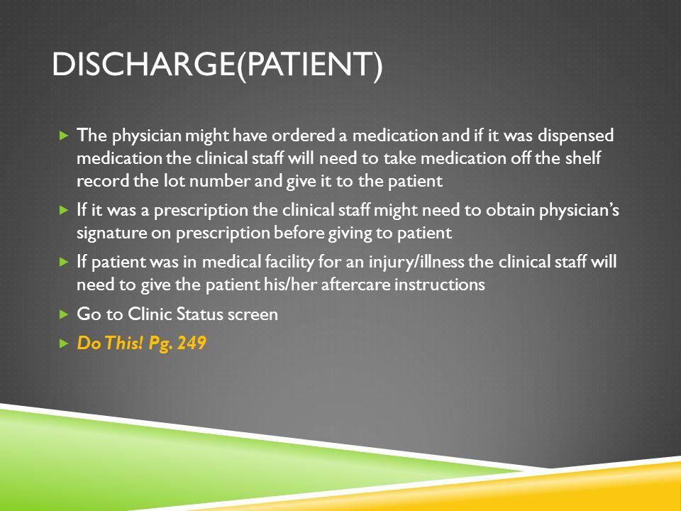 Discharge(Patient)