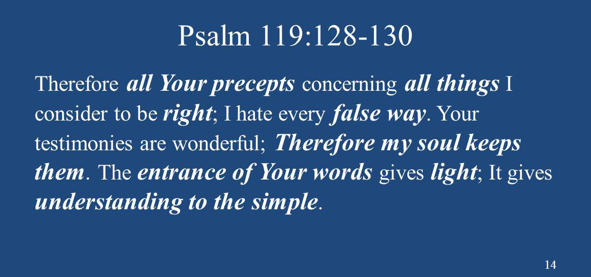 Psalm 119:128-130