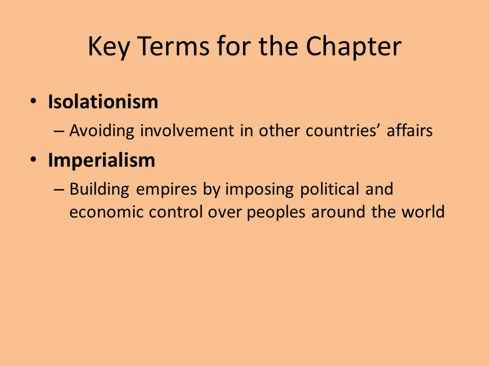 Key Terms for the Chapter