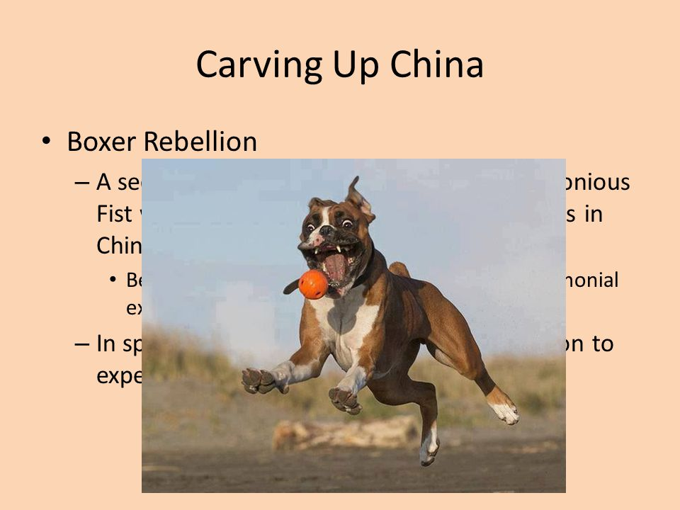 Carving Up China Boxer Rebellion