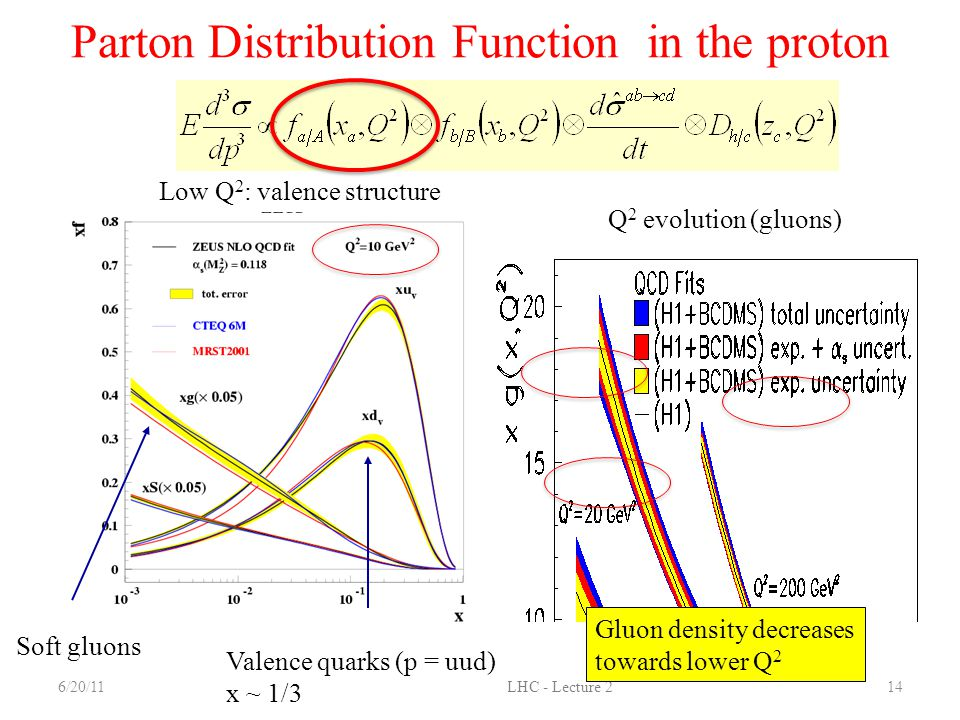 Parton Distribution Function in the proton