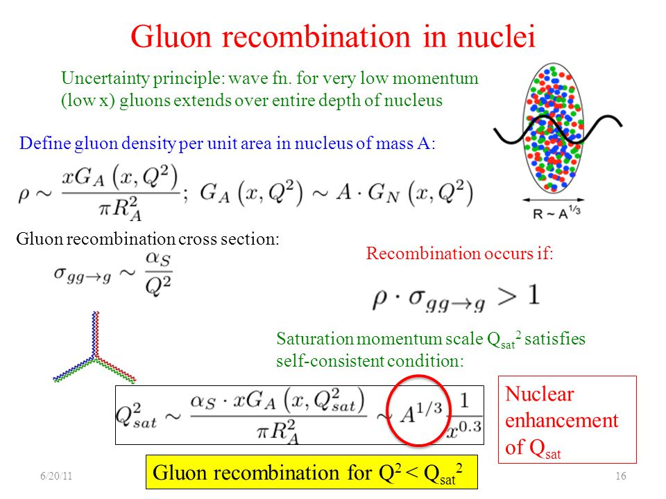 Gluon recombination in nuclei
