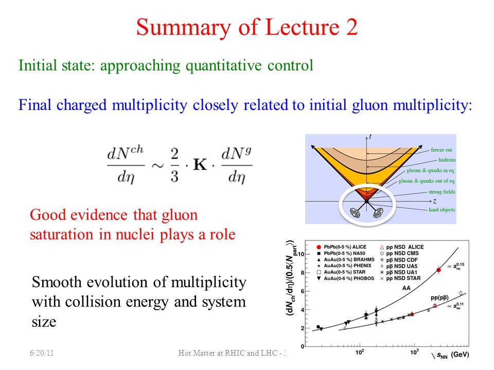 Hot Matter at RHIC and LHC - Lecture 2