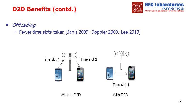 D2D Benefits (contd.) Offloading