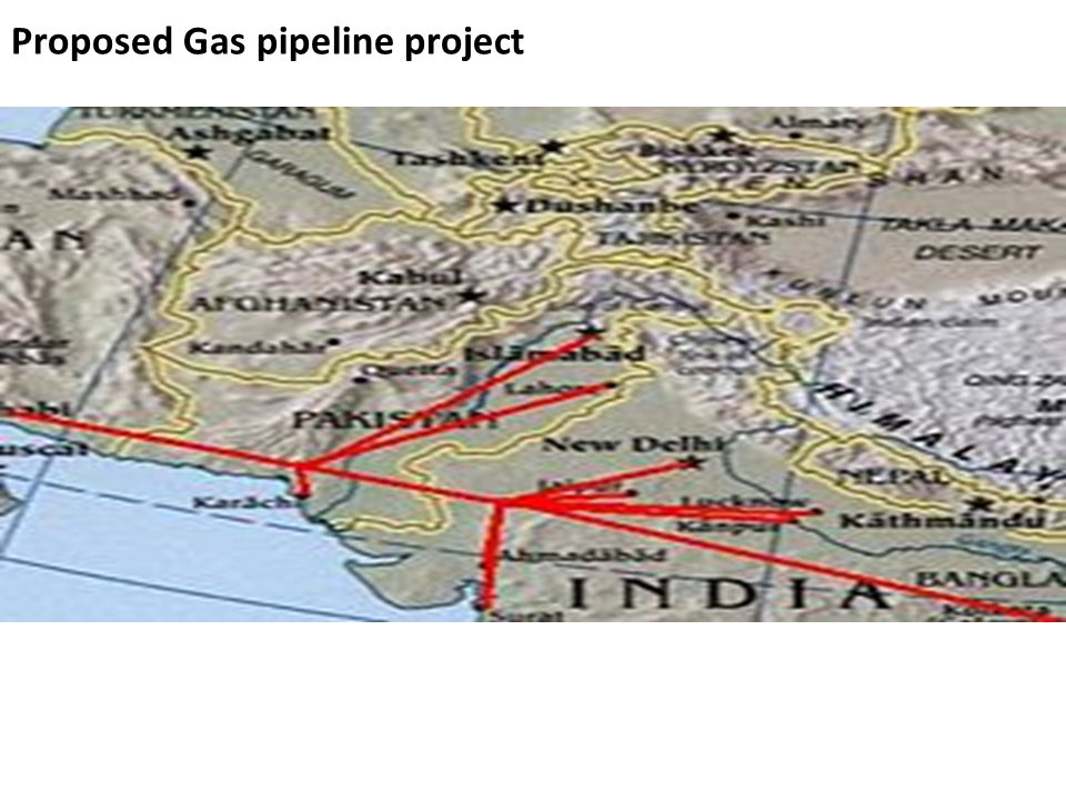 Proposed Gas pipeline project