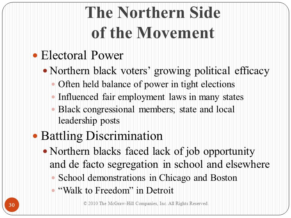 The Northern Side of the Movement