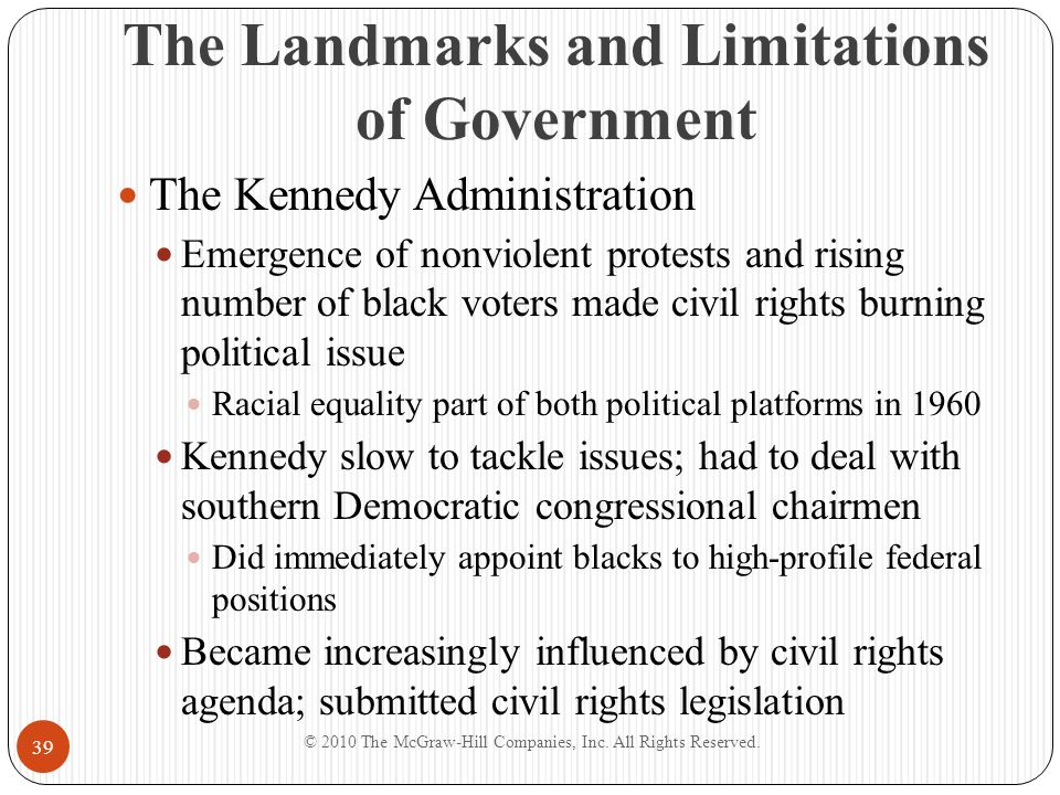 The Landmarks and Limitations of Government