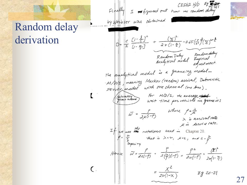 Random delay derivation
