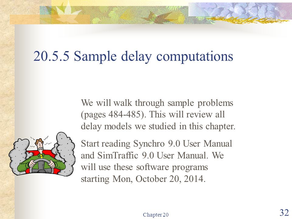 20.5.5 Sample delay computations