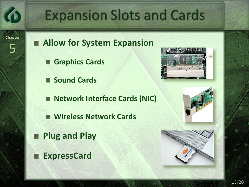 Expansion Slots and Cards