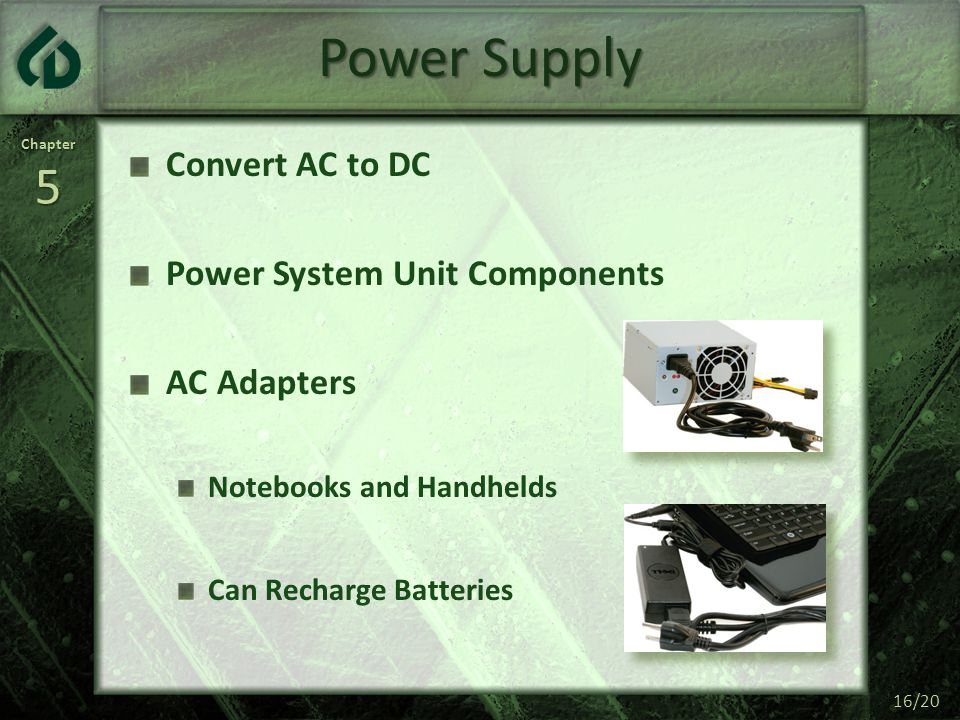 Power Supply Convert AC to DC Power System Unit Components AC Adapters