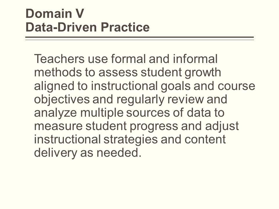Domain V Data-Driven Practice