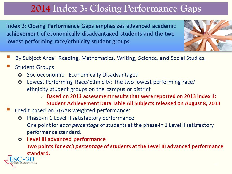 2014 Index 3: Closing Performance Gaps
