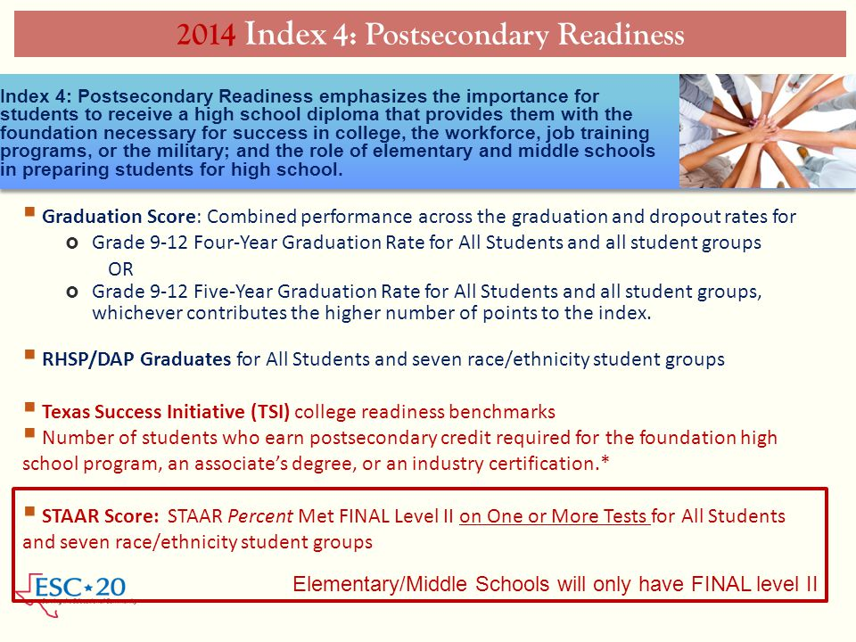 2014 Index 4: Postsecondary Readiness