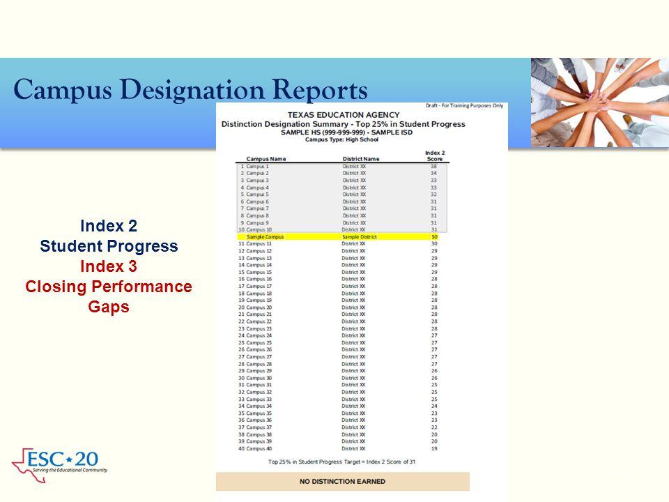 Campus Designation Reports