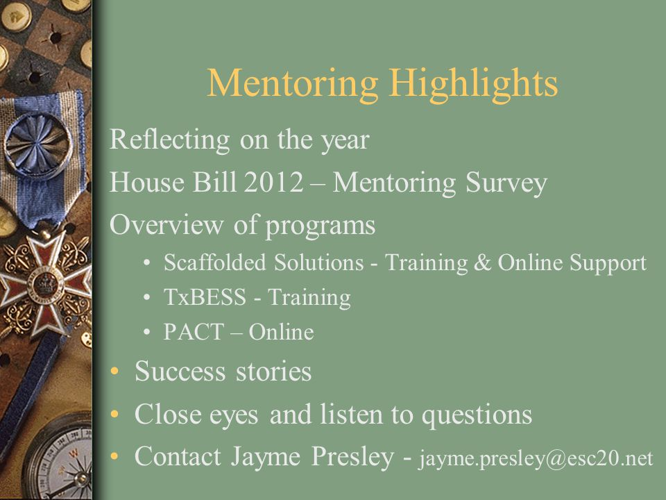 Mentoring Highlights Reflecting on the year