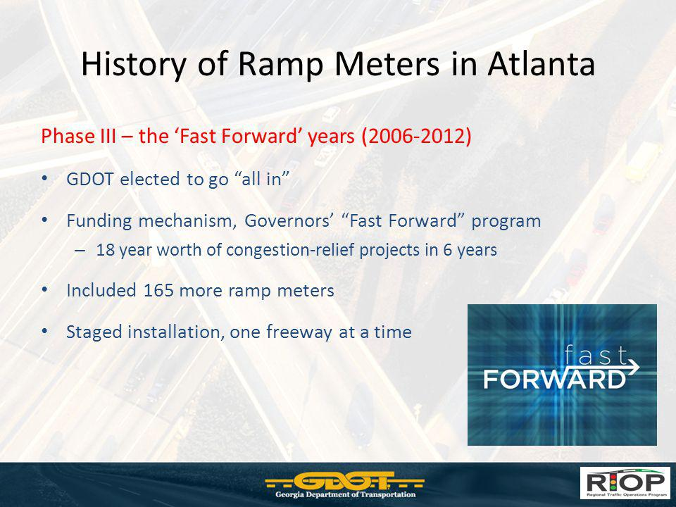 History of Ramp Meters in Atlanta