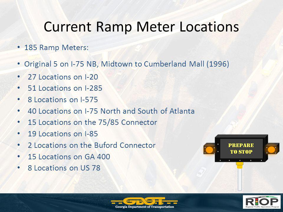 Current Ramp Meter Locations