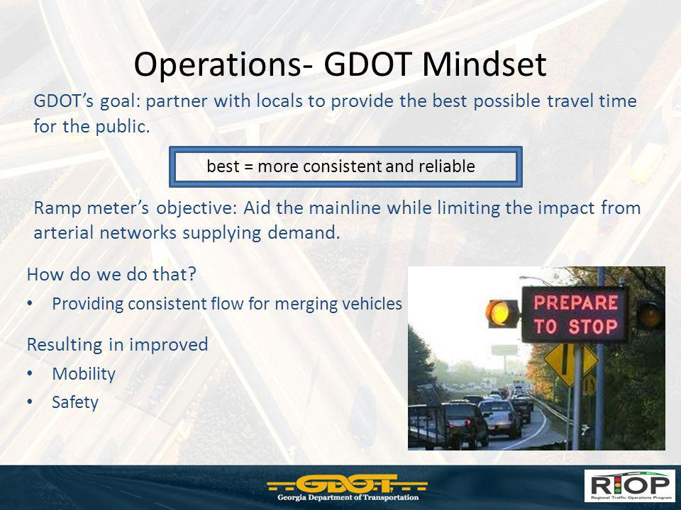Operations- GDOT Mindset