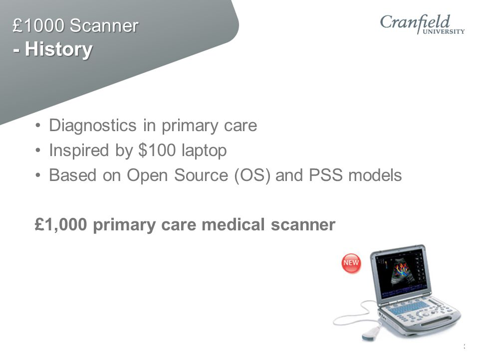£1000 Scanner - History Diagnostics in primary care