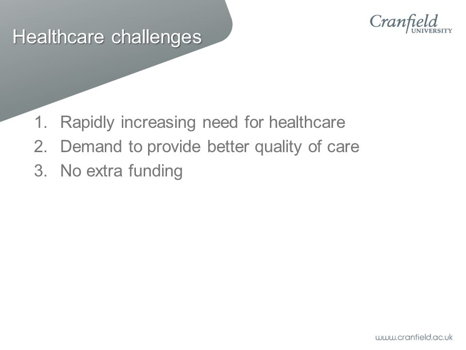 Healthcare challenges