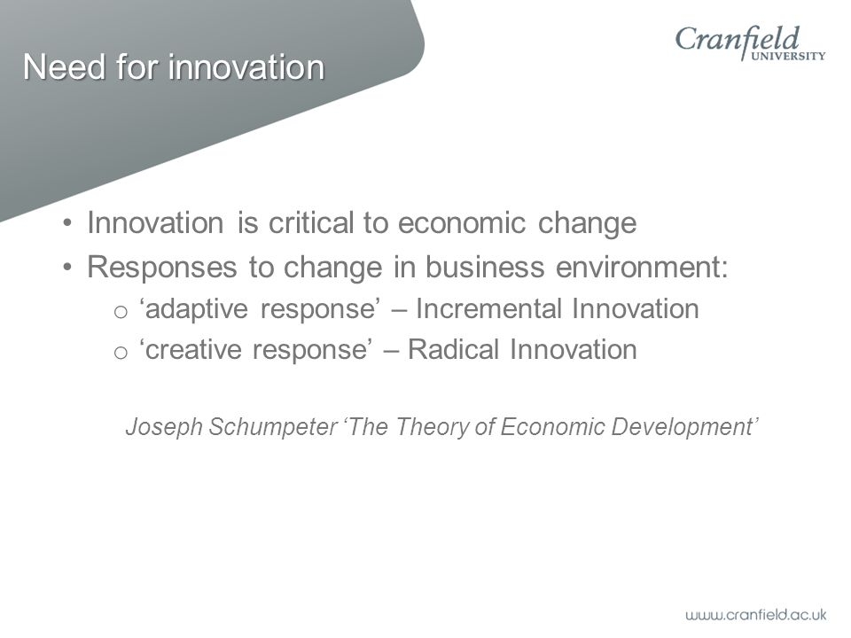 Joseph Schumpeter 'The Theory of Economic Development'