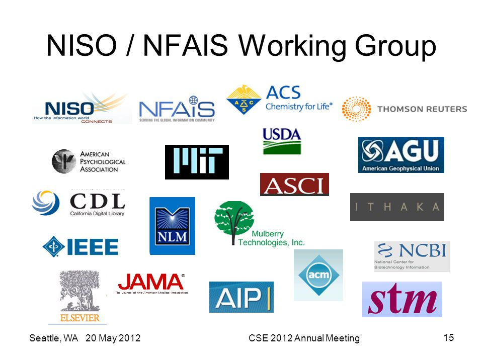 NISO / NFAIS Working Group