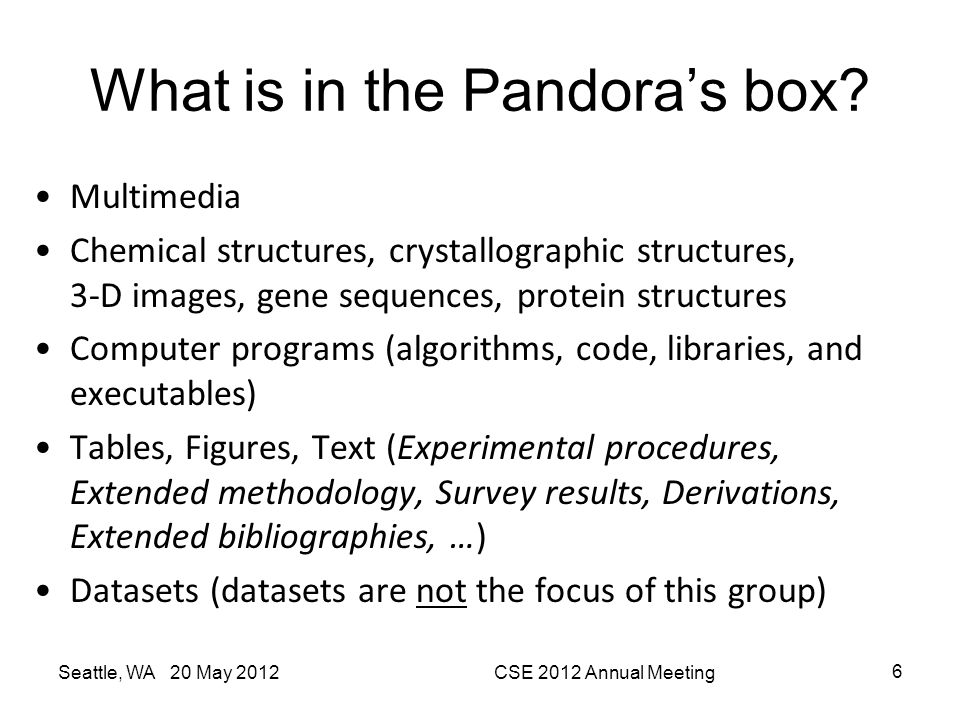 What is in the Pandora's box