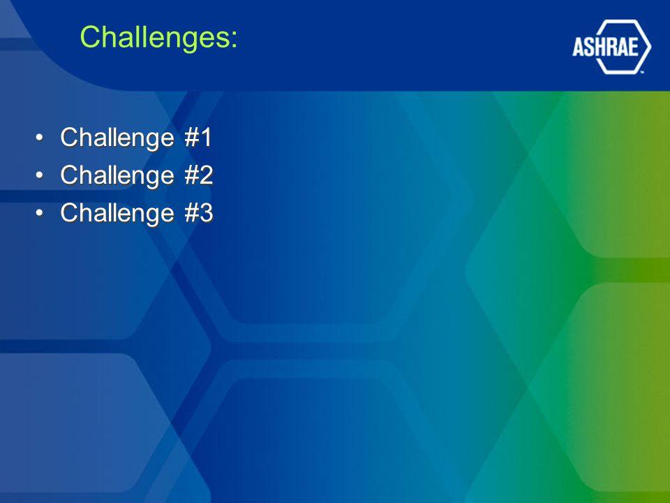Challenges: Challenge #1 Challenge #2 Challenge #3