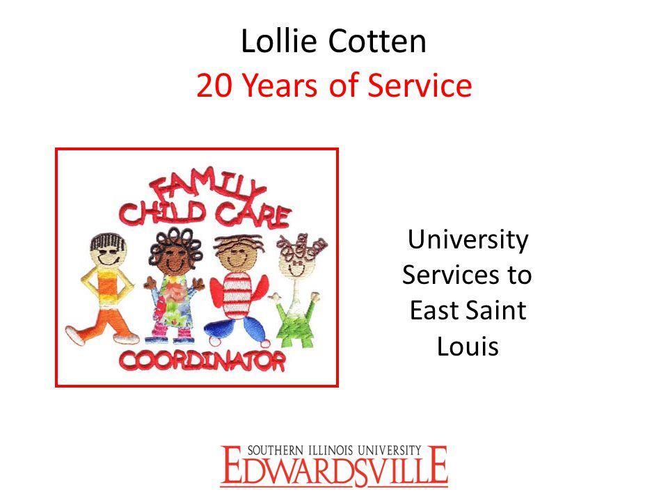 Lollie Cotten 20 Years of Service