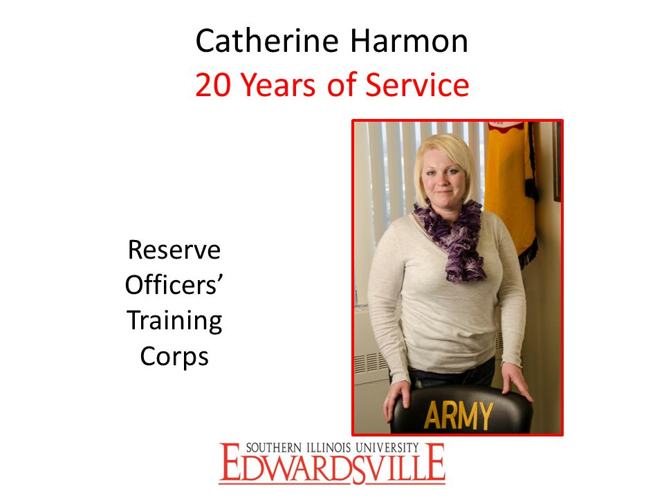 Catherine Harmon 20 Years of Service
