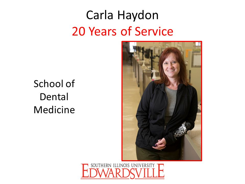 Carla Haydon 20 Years of Service