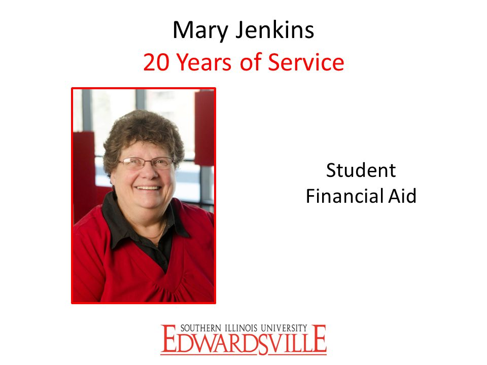 Mary Jenkins 20 Years of Service