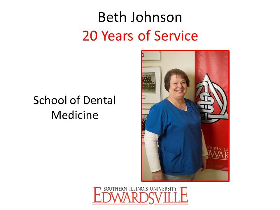 Beth Johnson 20 Years of Service