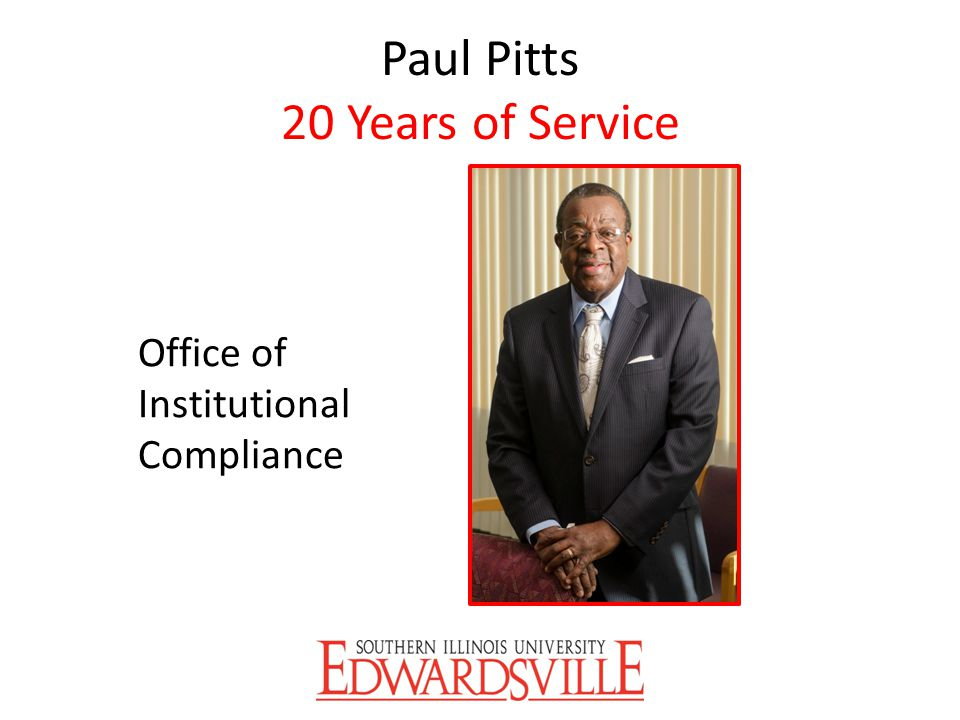 Paul Pitts 20 Years of Service