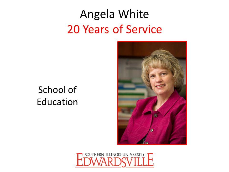 Angela White 20 Years of Service