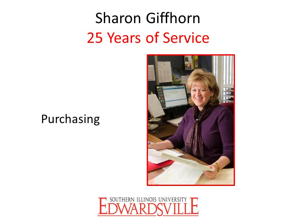 Sharon Giffhorn 25 Years of Service