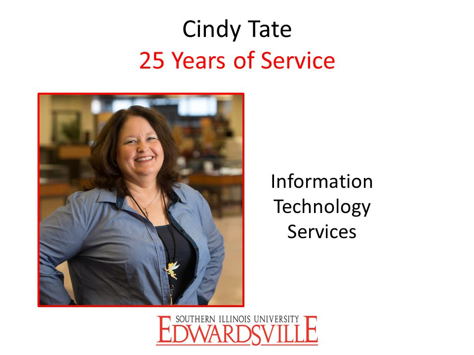 Cindy Tate 25 Years of Service
