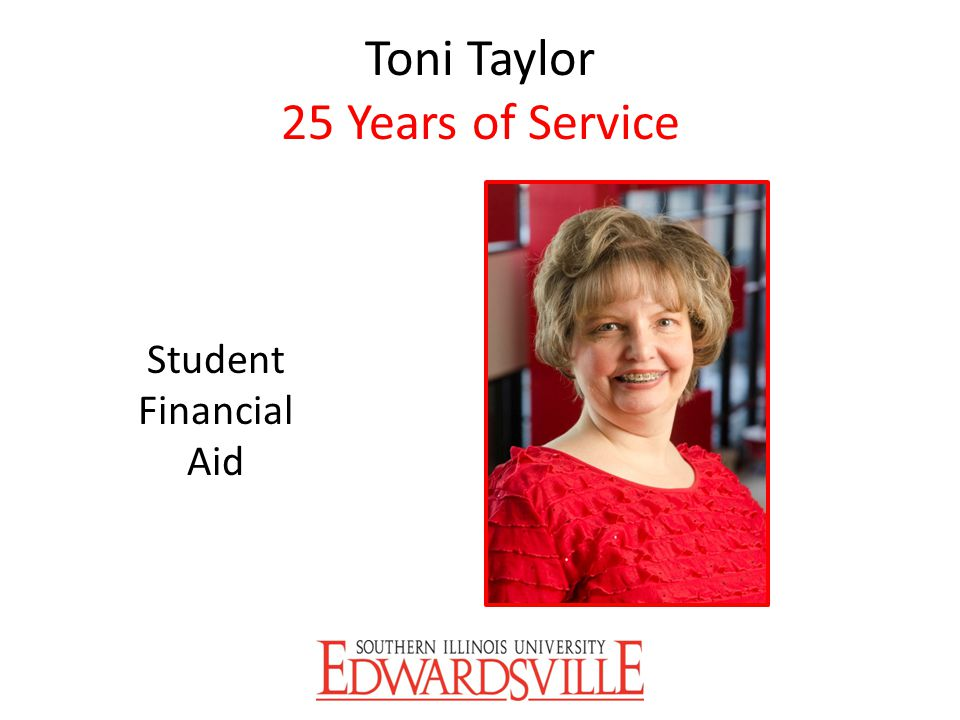 Toni Taylor 25 Years of Service