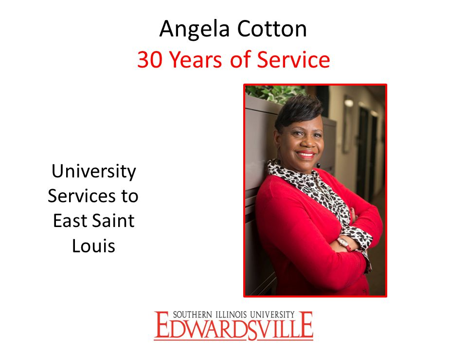 Angela Cotton 30 Years of Service