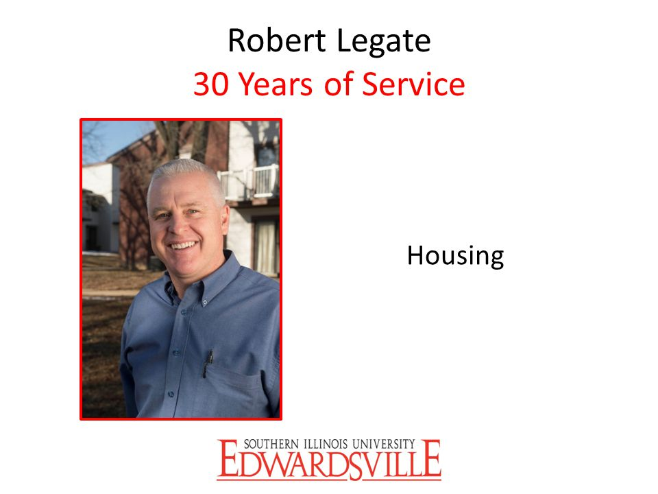 Robert Legate 30 Years of Service