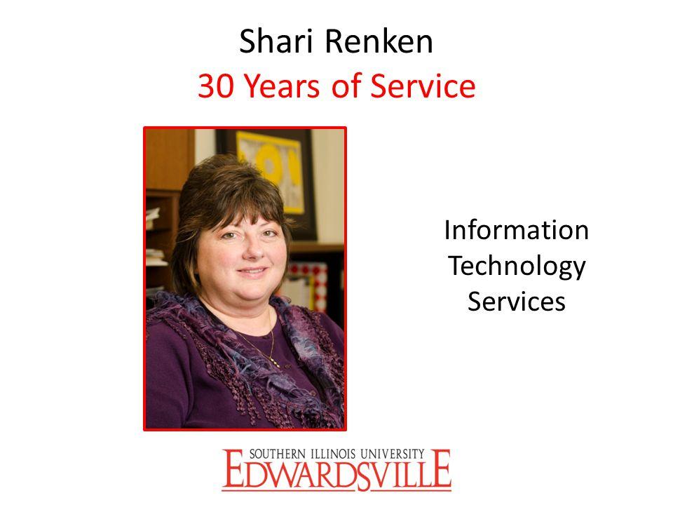 Shari Renken 30 Years of Service