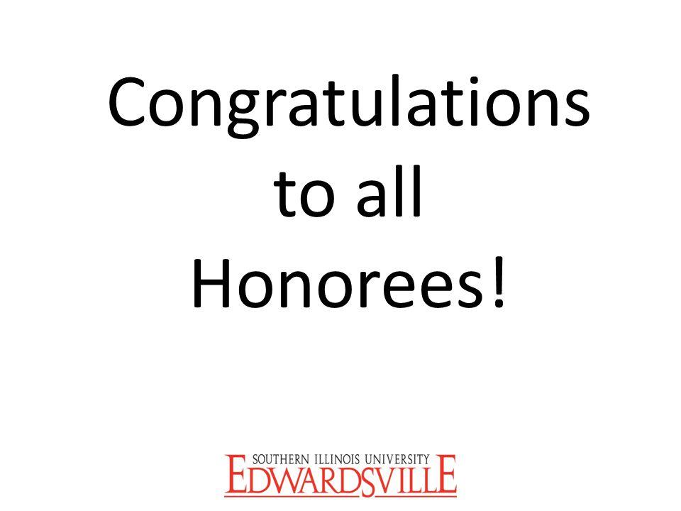 Congratulations to all