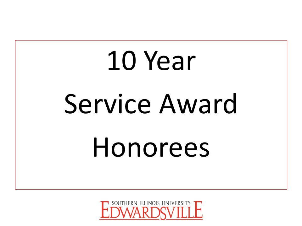 10 Year Service Award Honorees