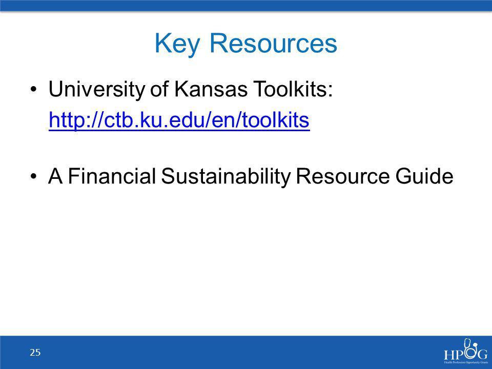 Key Resources University of Kansas Toolkits: