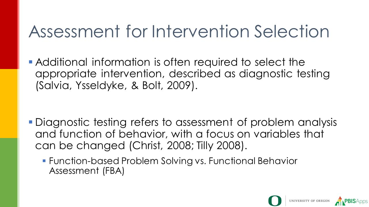 Assessment for Intervention Selection