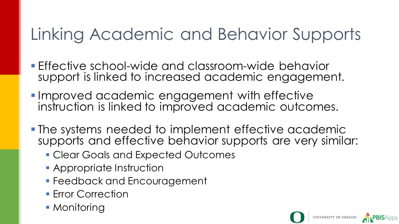 Linking Academic and Behavior Supports